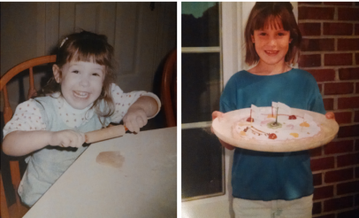 Me as a little girl learning to bake.